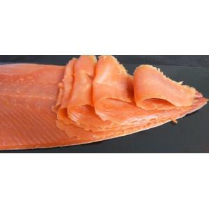 saumon sauvage Argenté d'Alaska fumé - filet tranché - 96 € / KG TTC