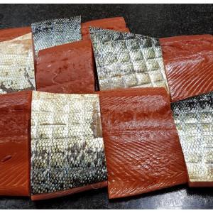 saumon royal  fumé d'alaska KING - pavé fumé de 450 gr