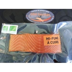 Saumon Bio pavé frais mi-fumé