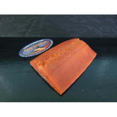 Saumon Sauvage rouge d'Alaska fumé, pavé