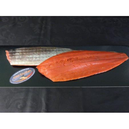Saumon Sauvage rouge d'Alaska fumé, filet tranché